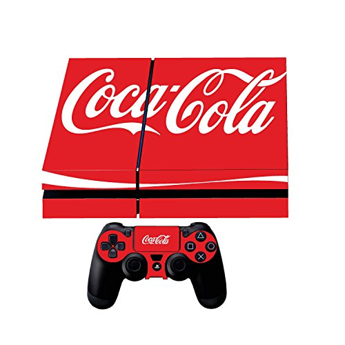 - Premium Designer Limited Edition Playstation 4 Ps4 Coca Cola + 2 Free PS4 Controller Skins + Bonus PS4 Lightbar Decals