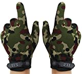 Aivtalk Outdoor Fishing Gloves Sports Cycling Hunting Finger Anti-Slip Mitts - camo