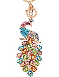 Peacock Keychain with Rhinestone for Bags Purse GJ008