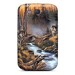 For Galaxy S3 Premium Tpu Case Cover Wolves At Creek Protective Case