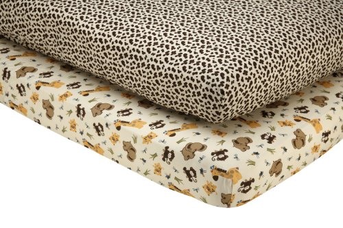 (Little Bedding by NoJo Jungle Dreams - 2 Count Crib Sheet Set)