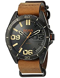 Boss Orange  Men's 1513316 Berlin Analog Display Japanese Quartz Brown Watch