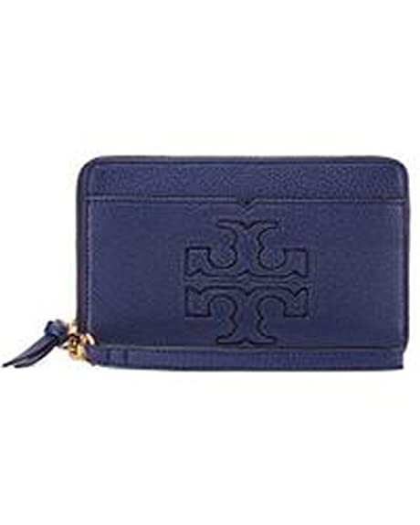 aa525a520561 Tory Burch Harper Zip Continental Wallet Navy  Amazon.ca  Shoes   Handbags