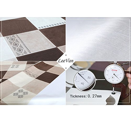 Leevan Heavy Weight Vinyl Rectangle Table Cover Wipe Clean
