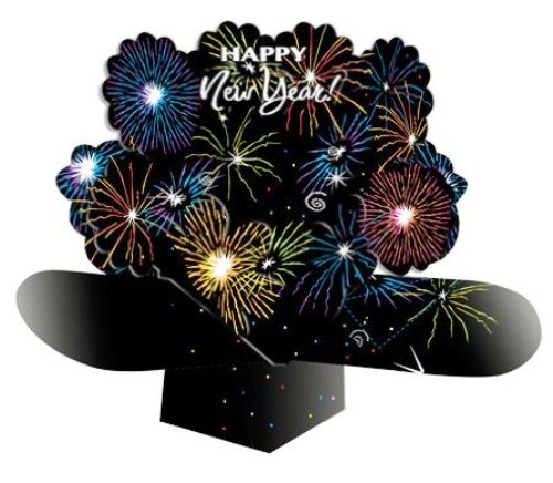 UPC 039938011215, Dimensional Pop-Out Style Centerpiece, Happy New Year Fireworks