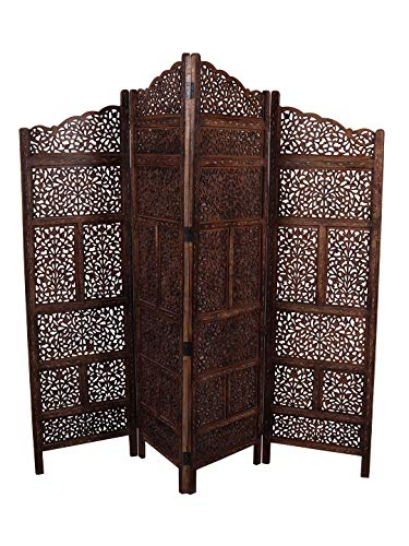 - Artesia Folding Wooden Room Dividers and Partition Screen 4 Panel Room Seprator (L-80 in x W- 0.75 in x H-72 in)