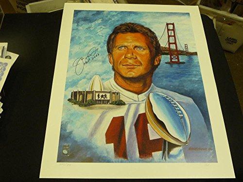 JOE MONTANA SAN FRANCISCO 49ERS SIGNED LTD LITHO PICTURE PHOTO 16X20 JOE MONTANA HOLOGRAM