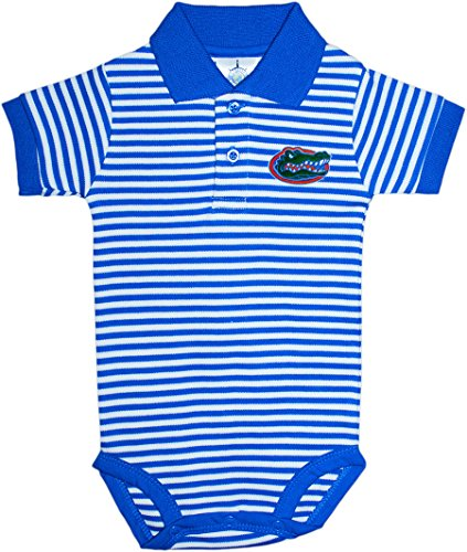 (University of Florida Gators Newborn Striped Polo Bodysuit,Royal,3-6 Months)