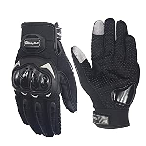 Fashion Protective motorbike Riding Glove Touch Screen … (Black, XX-Large)