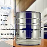 New 10L 2 Gallon Home DIY Moonshine Still Whiskey Brandy Alcohol Bolier Essential Oils Water Distiller Stainless Steel Brewing Kit Wine Making