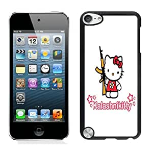 Fashionable DIY Custom Designed Freedom Fighter Kitty Cover Case For iPod Touch 5th Black Phone Case CR-206