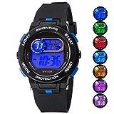 Kid Watch For Boy Girl LED Multi Function Fashion Sport Outdoor Digital Wristwatch Dress Waterproof Alarm Black