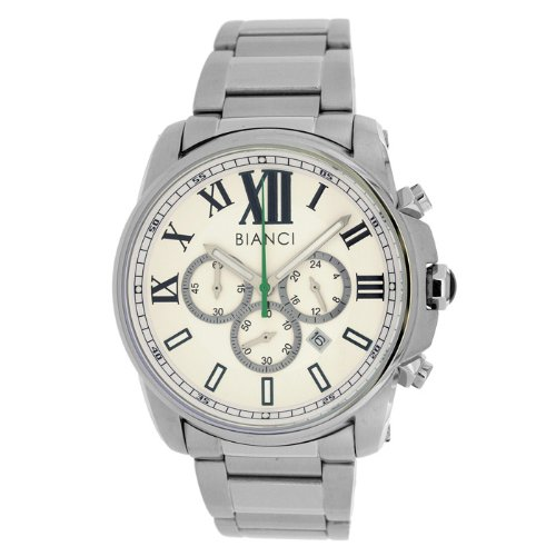 Roberto Bianci Men's All Steel Sports Chronograph Watch with White Face-5451MCHR-Whtgre