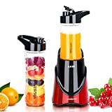 HOMEASY Personal Blender Electric Fruit Smoothie Juice Mixer with...