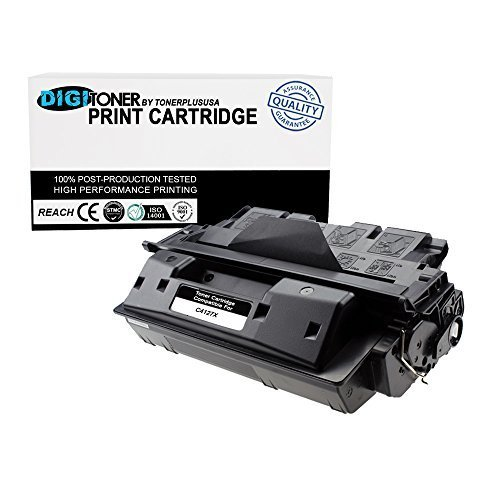 Laserjet 4050 Series - DigiToner™ by TonerPlusUSA New Compatible Replacement HP C4127X (HP 27X) High Yield Black Laser Toner Cartridge for use in HP LaserJet 4000 and 4050 Printer Series (Black, 1 Pack)