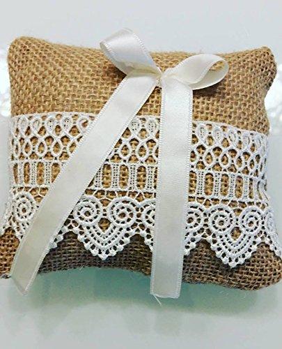 Cojín para anillos de ceremonia puntilla: Amazon.es: Handmade