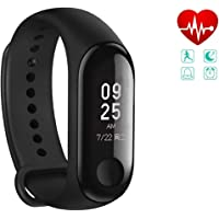Stealkart Xiaomi Mi Redmi Note 5 / Note 5 Pro/Note 6/ Note 4 Compatible M3 OLED Touch Screen Fitness Band with Live Heart Rate Monitor, Smart Band Waterproof, Activity Tracker Steps, Calories Counter