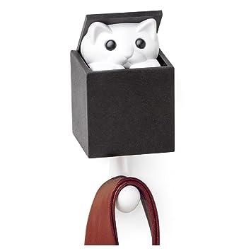 office coat hook. Qualy Kitt-a-Boo Peeping Cat Wall Hook Coathook Hanger Black Brown (Black Office Coat