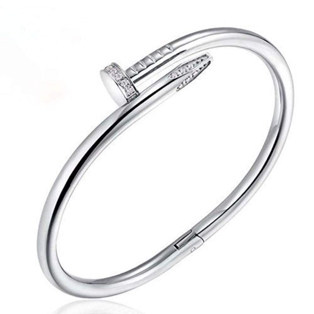 Sunny&Lucky Titanium Steel,Women's Classic Personality Fashion Bracelet-Silver Color