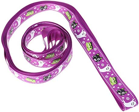 Healifty ハロウィーン雰囲気リボン DIYヘアボール ギフト 装飾 ラッピング 12ヤード 紫色 猫柄