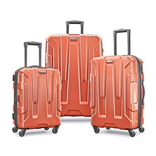 Spinners Expandable Samsonite - Samsonite Centric Expandable Hardside Luggage Set with Spinner Wheels, 20/24/28 Inch, Burnt Orange