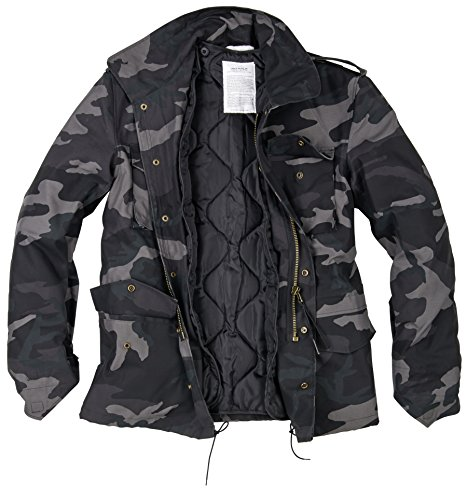 Uomo Giacca M65 Field Surplus Black Us Camo FxwznB