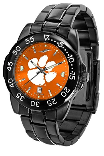 SunTime Collegiate Fantom Sport Anochrome Premium Mens Watch with Gunmetal Band (Clemson)