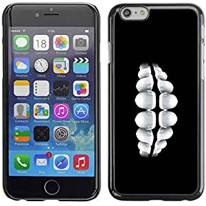 Slim Design Hard PC/Aluminum Shell Case Cover for Apple Iphone 6 Plus 5.5 Teeth Smile / JUSTGO PHONE PROTECTOR