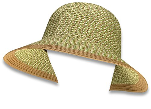 423efc862f9 Bleu Nero Luxury Summer Sun Hat for Women Beach Straw Hat Wide Brim 50+SPF