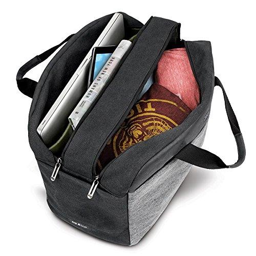 Solo Impulse 17.3 Inch Laptop Duffel, Black/Grey