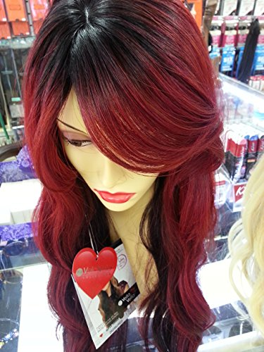 Super Amber 28inch (2R2/99J/Red black root with burgendy Hot Red) (Amber Wig)
