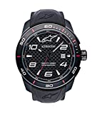 Alpinestars Tech Watch | Men's Analog Watches | 45 MM Stainless Steel case | 100 Meters Water Resistant | Japanese Quartz Movement | Integrated Silicone Wristband (Black/Carbon)