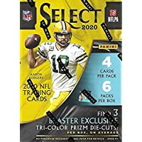$98 » 2020 Panini Select Football 6-Pack Blaster Box (Tri-Color Prizms) NFL Trading Cards