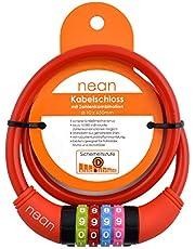 Nean Fietsslot voor kinderen, cijfer-code-combinatie-kabelslot, kleurrijk, 10 x 650 mm