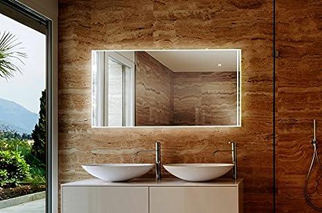 Specchio da bagno con illuminazione a led vilaricos m509l4 in