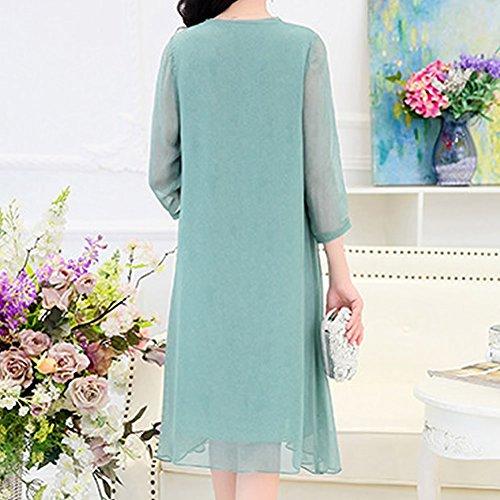 Seide Abendkleid E girl Damen Kleid A Knee Kleider Übergröße Grün Long S17126 Gestreift Linie 7qTwrxS7z