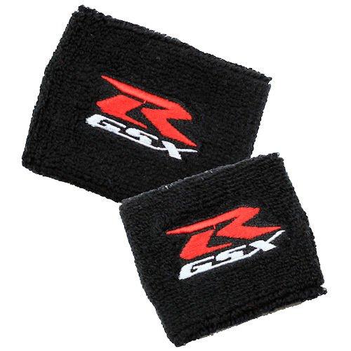 (Suzuki GSXR Black Brake/Clutch Reservoir Cover by MotoSocks Set Fits GSXR, GSX-R, 600, 750, 1000, 1300, Hayabusa, Katana, TL 1000, SV 650)