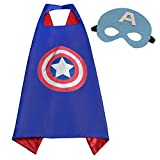Superhero Costumes For Kids, Girls & Boys | Pretend Play Satin 4 Capes,4 Masks & Bracelets | For Halloween, Birthdays Party Favors, Dress Up & More