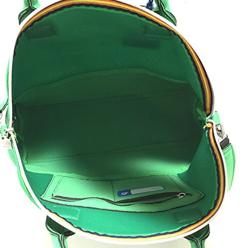 Borsa modello tote K-Way verde neoprene tessuto 6AKK7813VERDE