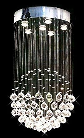 Modern Contemporary Chandelier Rain Drop Chandeliers Lighting With - Chandelier raindrop crystals