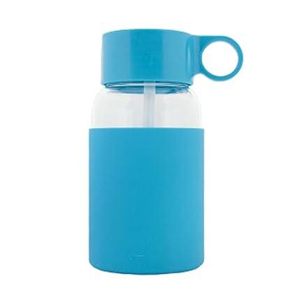 Portátil Personal deportes botella de agua botellas de vidrio 500 ml 16 oz – azul