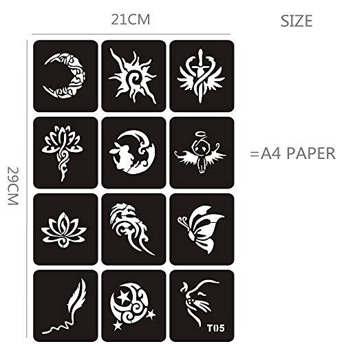 Henna Tattoo Kits For Kids: VEAMOR Henna Tattoo Stencil Kit,Glitter Tattoo Kit