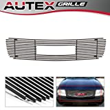 AUTEX G65773A Polished Aluminum Billet Upper Grille Insert for 1998 1999 2000 2001 2002 2003 GMC Jimmy, 1998-2003 GMC S-15 Pickup, 1998-2003 GMC Sonoma