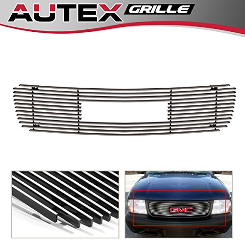 AUTEX G65773A Polished Aluminum Billet Upper Grille Insert Compatible With GMC Jimmy 1998-2003/GMC S-15 Pickup 1998-2003/GMC Sonoma 1998-2003 ()