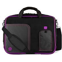 VanGoddy Plum Purple Laptop Messenger Bag for MSI Phantom GS30 13inch Gaming Laptop