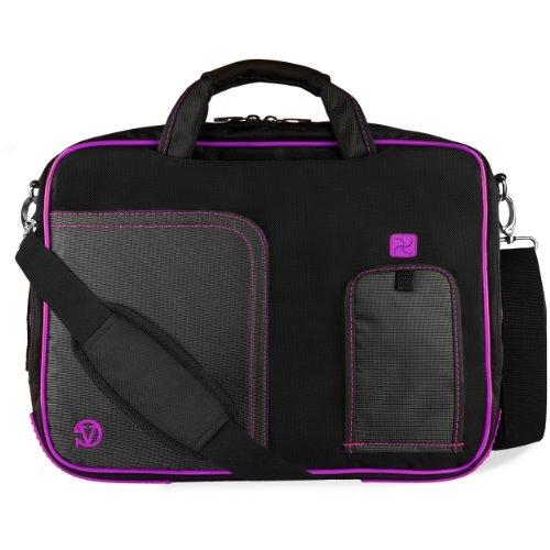VanGoddy Plum Purple Laptop Messenger Bag for Razer