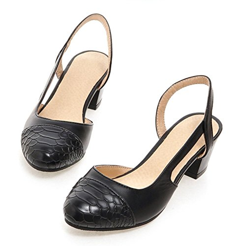 Sandals Pointy Black Shoes Aisun orsay Chunky Women's Heels Mid D Toe Stylish IwqRHxqYf