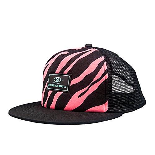 Deep Lifestyles Bright Neon Pink/Black Zebra Print Trucker Cap (Pink Zebra Cap)