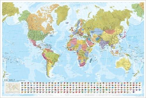 Marco Polo Weltkarte Staaten Der Erde Mit Flaggen 1 35 000 000