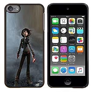 EJOOY---Cubierta de la caja de protección para la piel dura ** Apple iPod Touch 6 6th Touch6 ** --Distrófica Carácter Mujer de dibujos animados